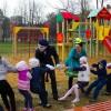 Участие в открытии детских площадок